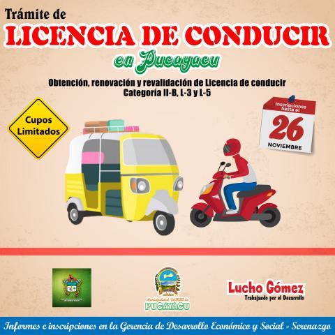 tramite de licencia de conducir